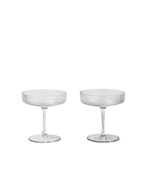 Set of 2 Ripple Champagne Saucers
