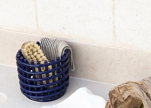 Blue Ceramic Basket