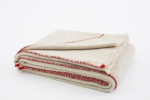 Grey Bedspread 180x240 cm Merino Wool