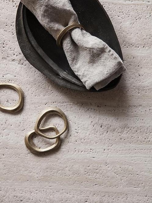 Set of 4 Brass Napkin Rings