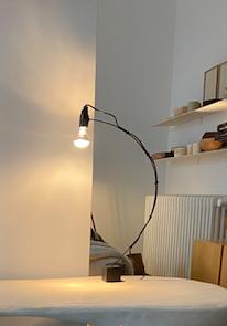 Black iron Table Lamp
