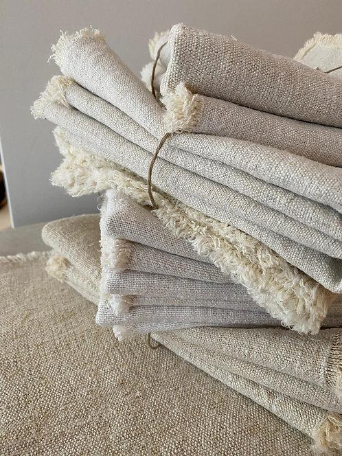 Napkins Washed Linen - Set of 4