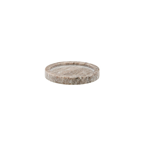 Beige Marble Tray ⌀12.5 cm