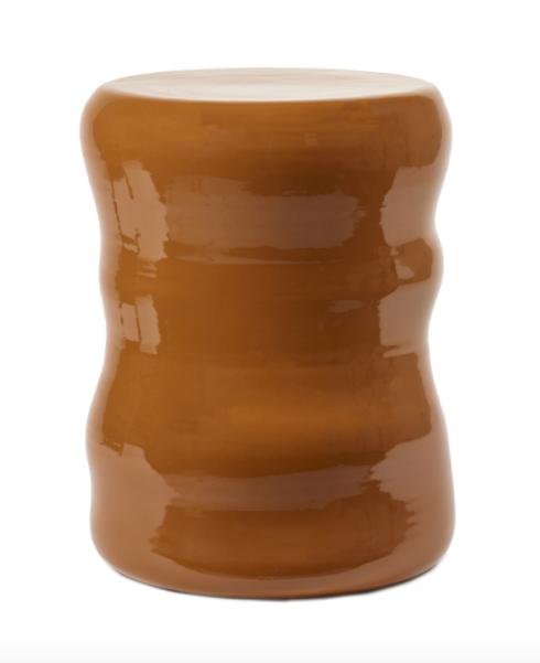 Rust Ceramic Stool/Side Table