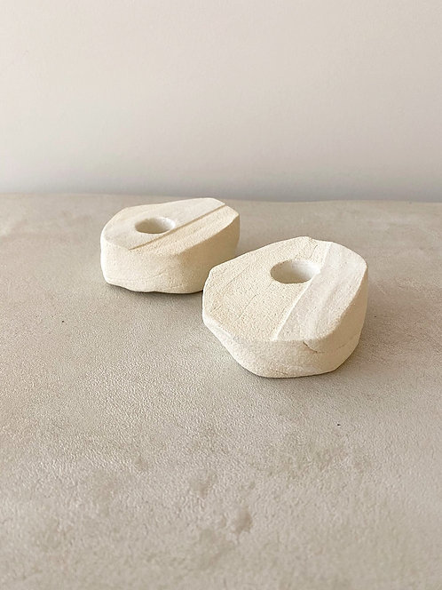 Cream Candle Holders
