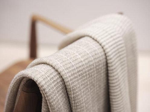 Beige Plaid 140x180 cm Merino/Yak Wool