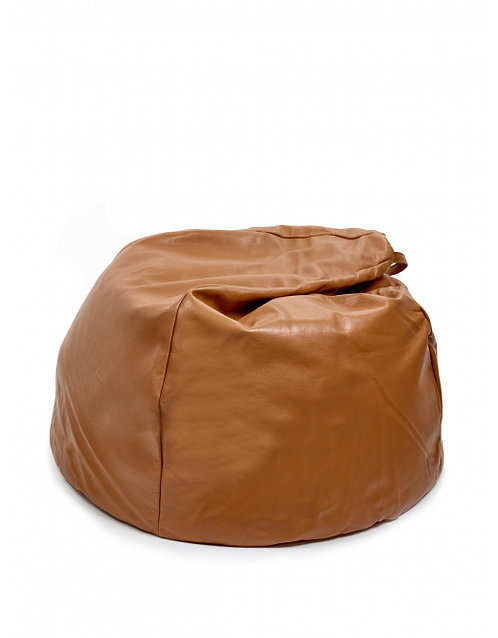 Leather Bean Bag Cognac
