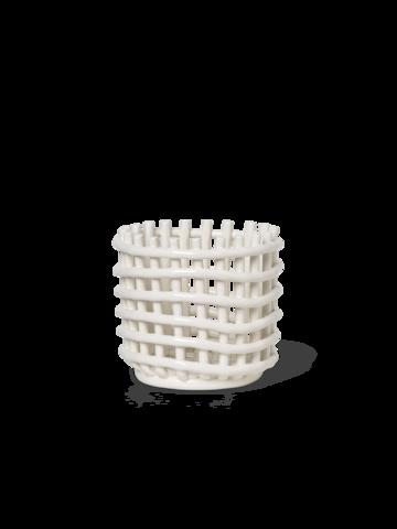 Cream Ceramic Basket