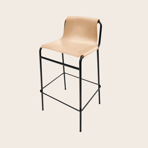 Leather/Steel Bar Stool