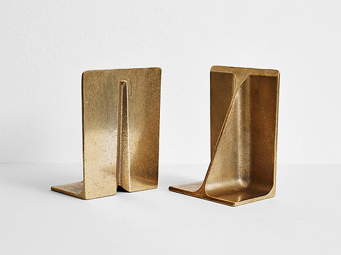 Pair of Bronze Bookends H W