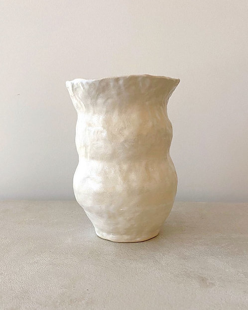Cream Ceramic Vase LB