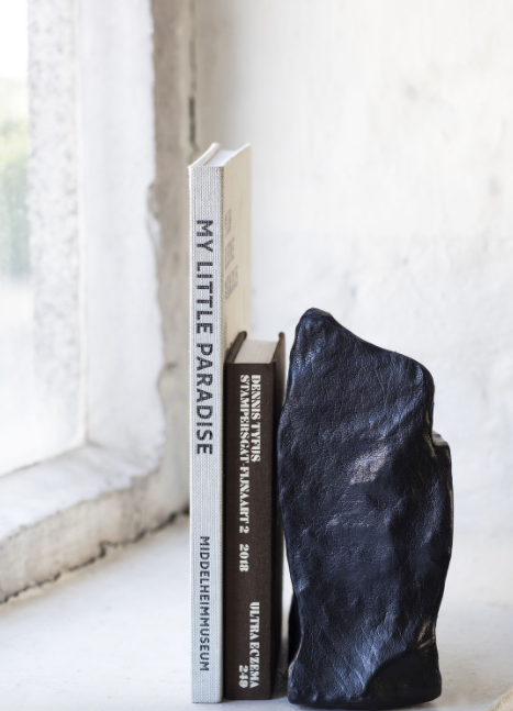 Leather Bookend Black