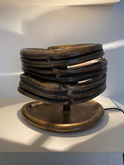 Bronze lamp by Nicolas Erauw