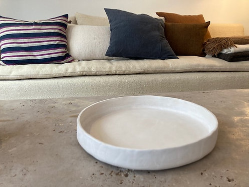 White Ceramic Plate ⌀34cm