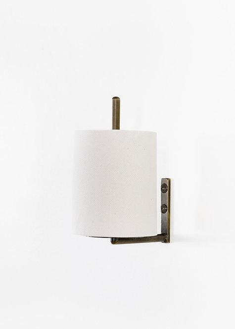 Spare Paper Holder Aged Brass
