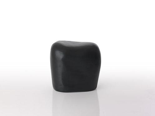 Square Pebble Seat Lacquered Fiberglass