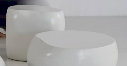 Coffee Tables Lacquered Fiberglass