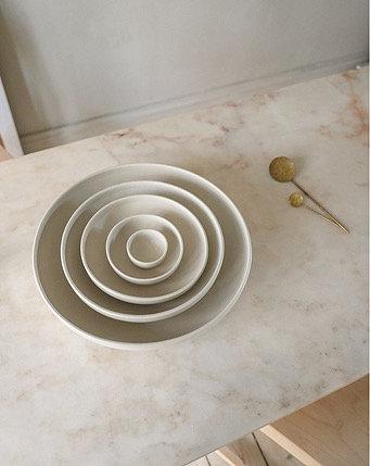 Set of 5 Stoneware Bowls