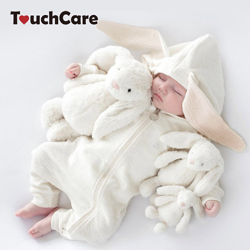 Baby Bunny Ear Rompers Infant Rabbit Jumpsuit Outfit Cotton Boys Girls Hare Play