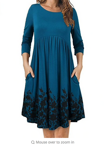 Long Sleeve Maternity Dress O-neck Print For Pregnant Women