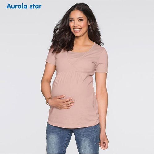Breastfeed Nursing T-shirt Clothes Maternity Blouses For Pregnancy Women Shirts