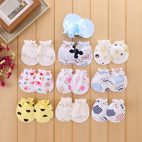 2Pcs Cotton Blend Baby Gloves Anti Scratch Face Hand Guards Protection Soft