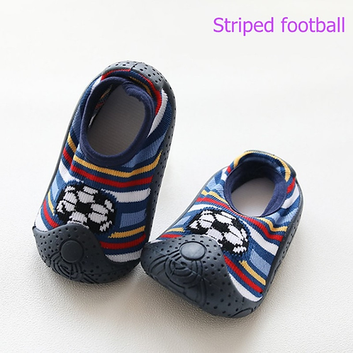 Rubber Soles Boys And Girls Shoes Newborn Socks Baby Shoes Waterproof Non-slip