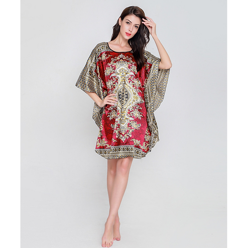 2nd Loose Plus Size Nightgowns For Women Bats sleeves Girls Nightshirts Nigh