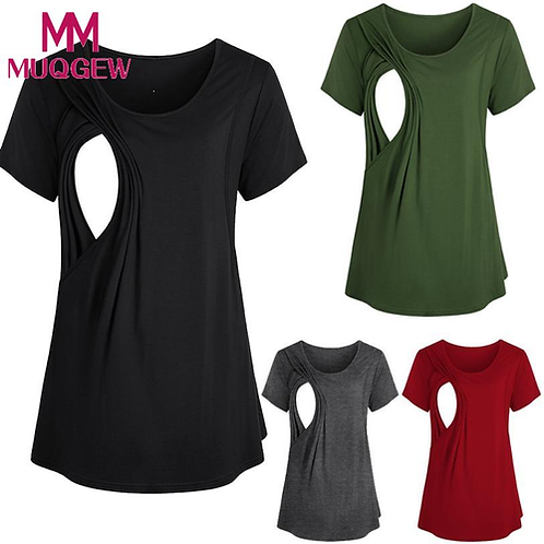 MUQGEW Clothes For Pregnant Women New Summer Women Pregnant Maternity Nursing