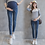 Thumbnail: Elastic Waist Belly Denim Maternity Jeans Suit for Four Season Wear Pencil Trous