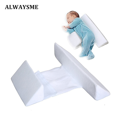 ALWASYME Newborn Infant Bassinet Wedge Crib Wedge Infant Sleep Prevent Flat Head