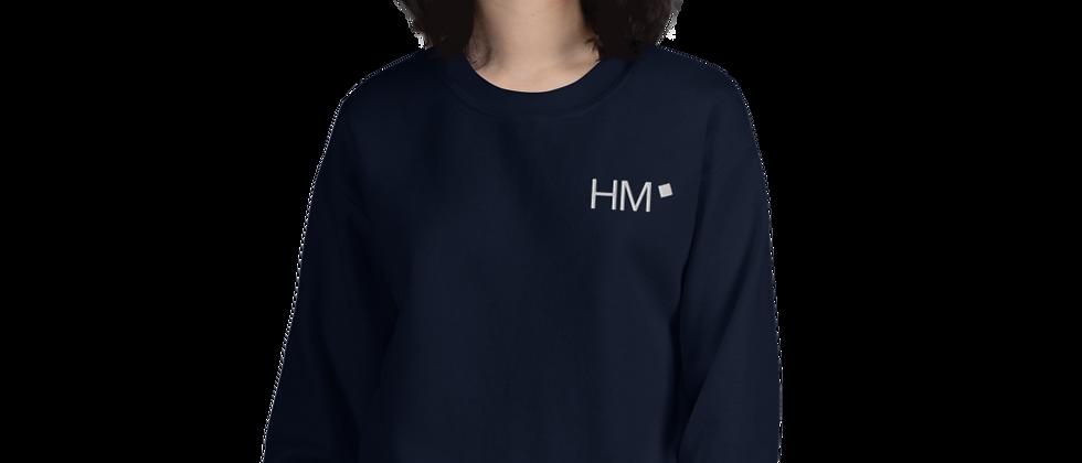 Pullover mit weißem HM-Logo (gestickt)