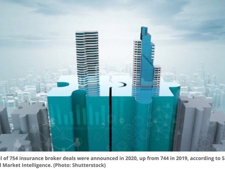 Pandemic helped fuel insurance broker M&A in 2020. Will that M&A continue in 2021?