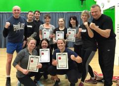 Certificate presentation following 4 week Ladies RCS Bristol Self Defence Course.