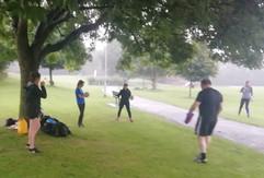 Outdoor training in the rain