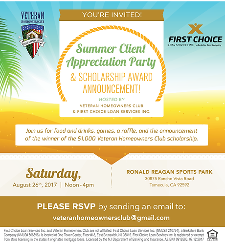 Summer Client Appreciation Party Scholarship Award Announcement