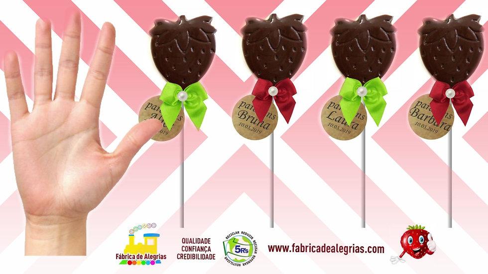 Pirulito de Chocolate Moranguinho