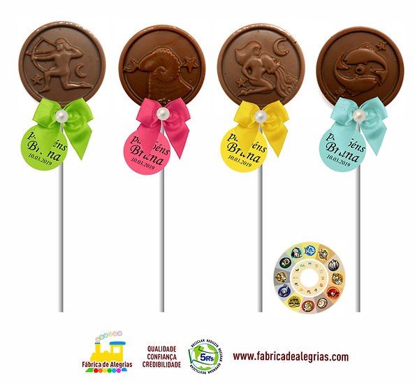 Pirulitos de Chocolate Signos do Zodíaco