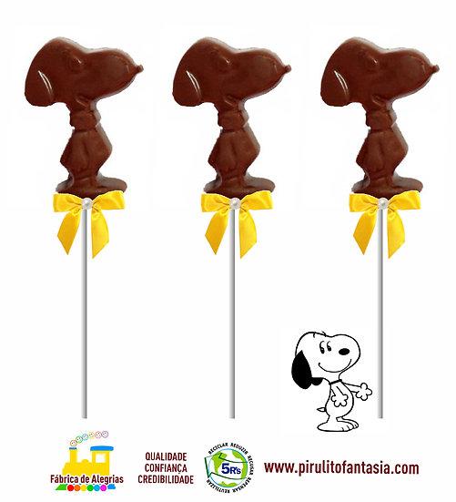 Pirulito de Chocolate Snoopy
