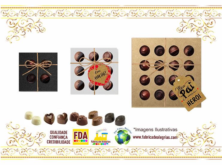 Bombons Maciços de Chocolate Belga