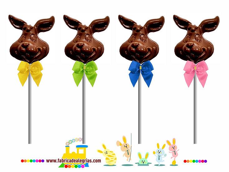 Pirulito de Chocolate Coelho da Páscoa
