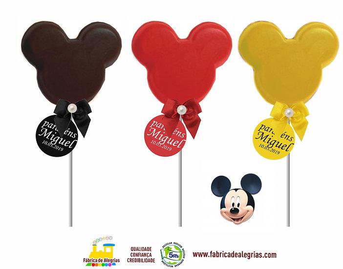 Pirulito Silhueta Contorno Mickey
