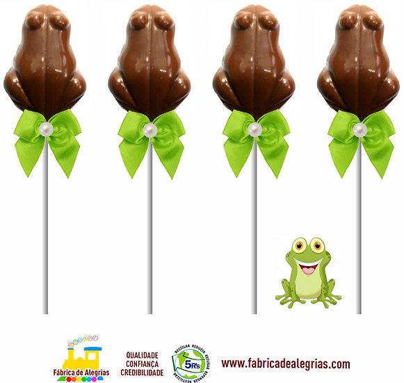 Pirulito de Chocolate Sapinho