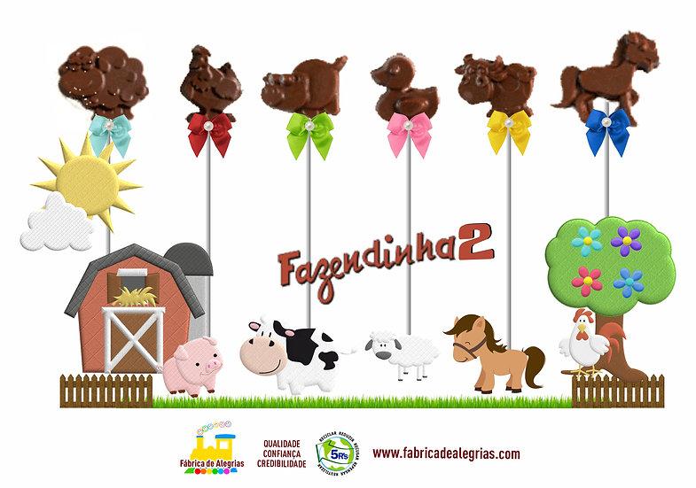 Pirulitos de Chocolate Fazendinha