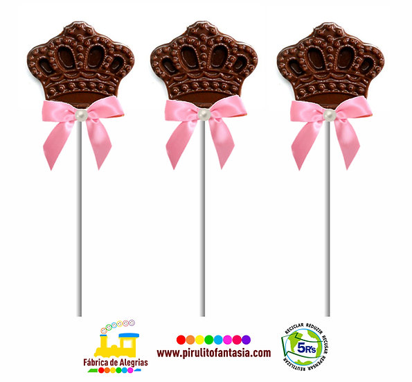 Pirulito de Chocolate Coroa
