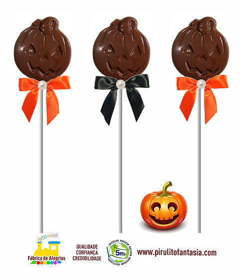 Pirulito Abóbora Halloween