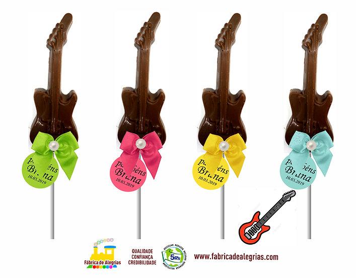 Pirulito de Chocolate Guitarra