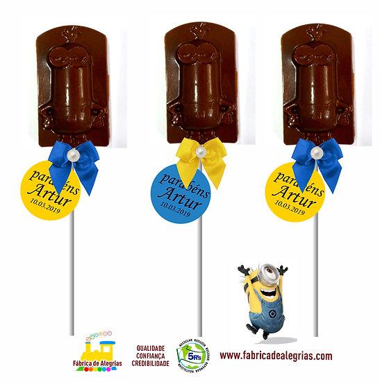 Pirulito de Chocolate Minion