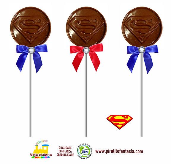 Pirulito de Chocolate Super Homem