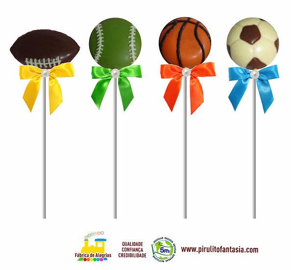 Pirulito de Chocolate Bolas Esportivas